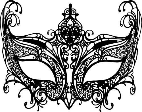 Black Masquerade Mask Mardi Gras Clipart Png Clip Art Digital Download Transparent Image Graphics Venetian Filigree Digital S Venetiaans Masker Maskers Juwelen