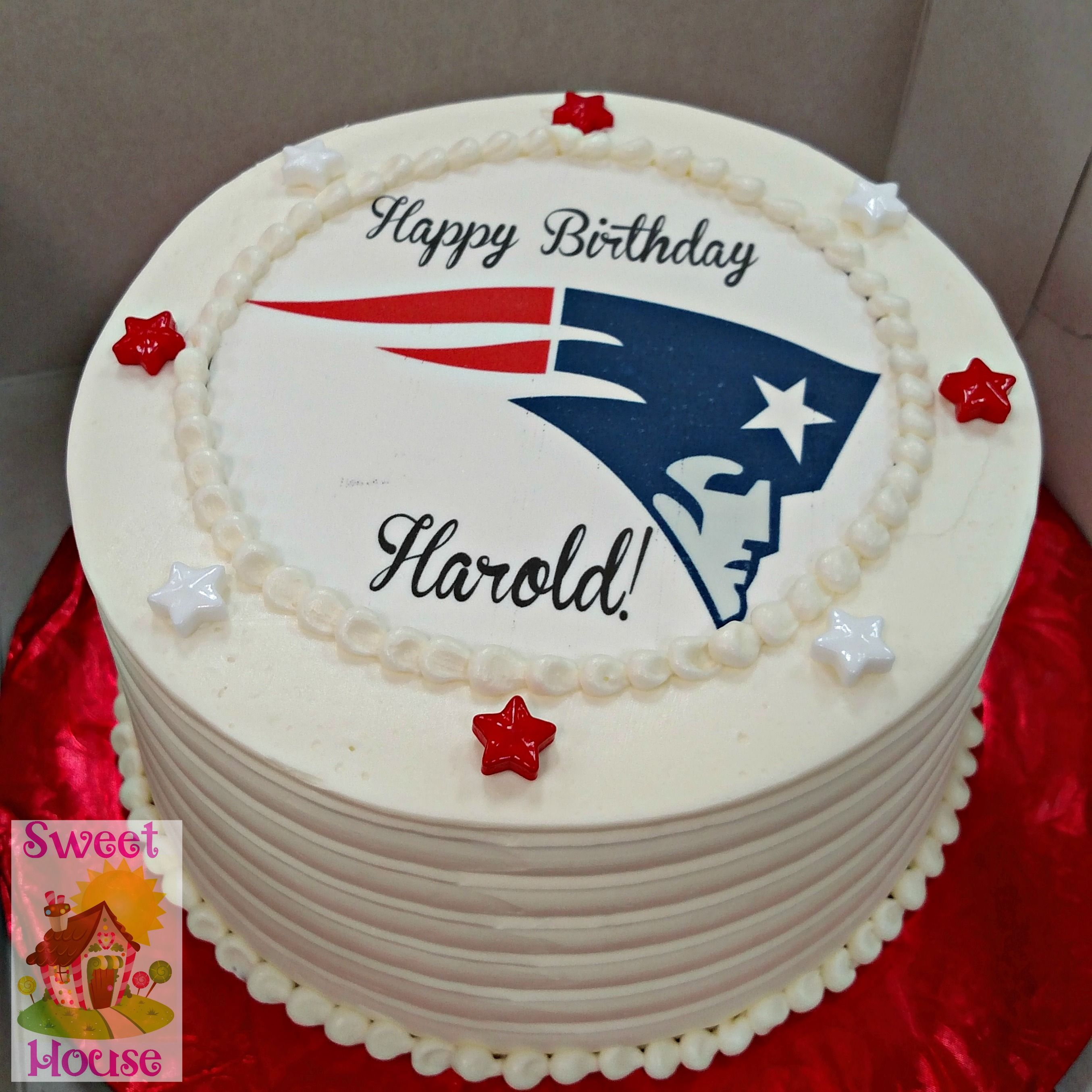 Patriots Birthday Cake Birthday Cakes Pinterest Birthday Cakes