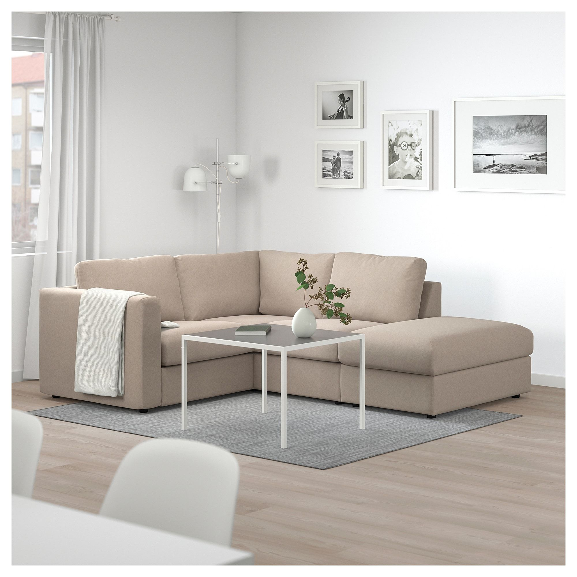 VIMLE Sectional, 3-seat Corner, With Open End, Tallmyra