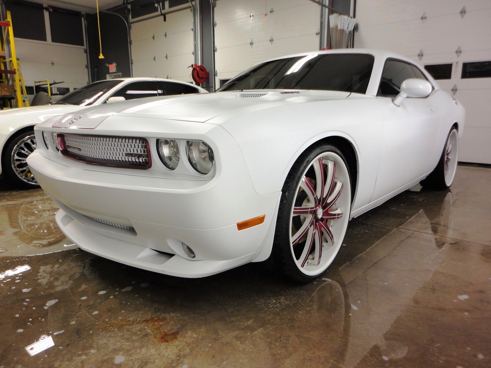 Matte white dodge challenger srt 8 on savini wheels for sale friday rides