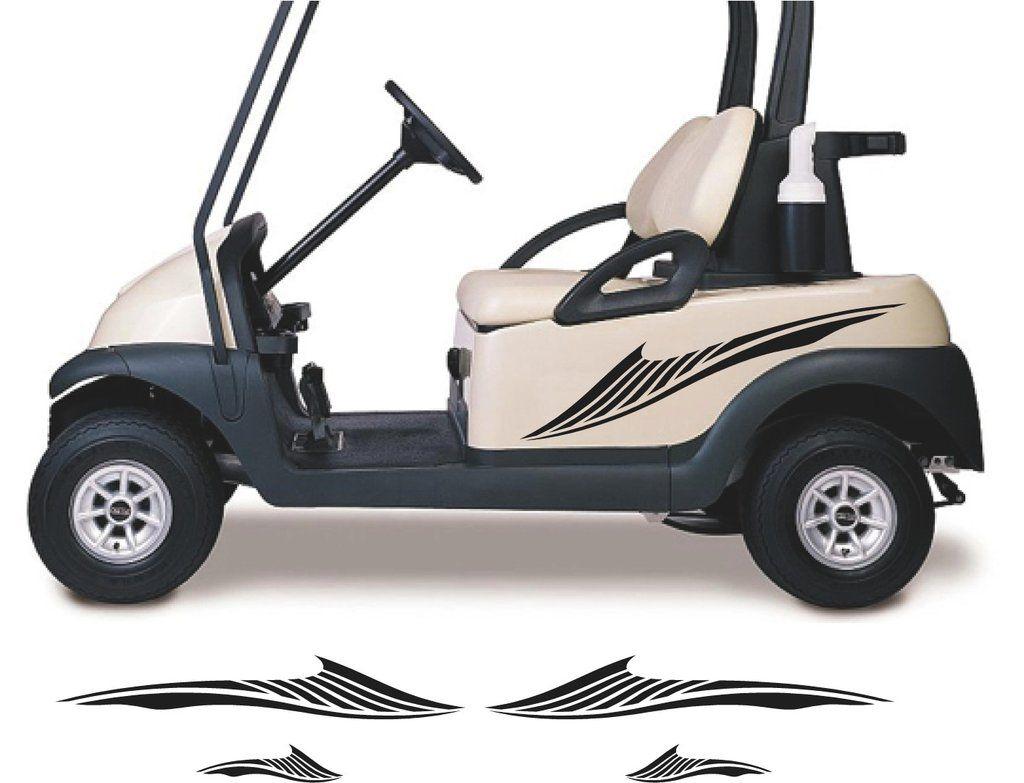 Golf Cart Decals Accessories Go Kart Stickers Tribal Flames Stripes Gc76 Golf Carts Golf Cart Accessories Golf