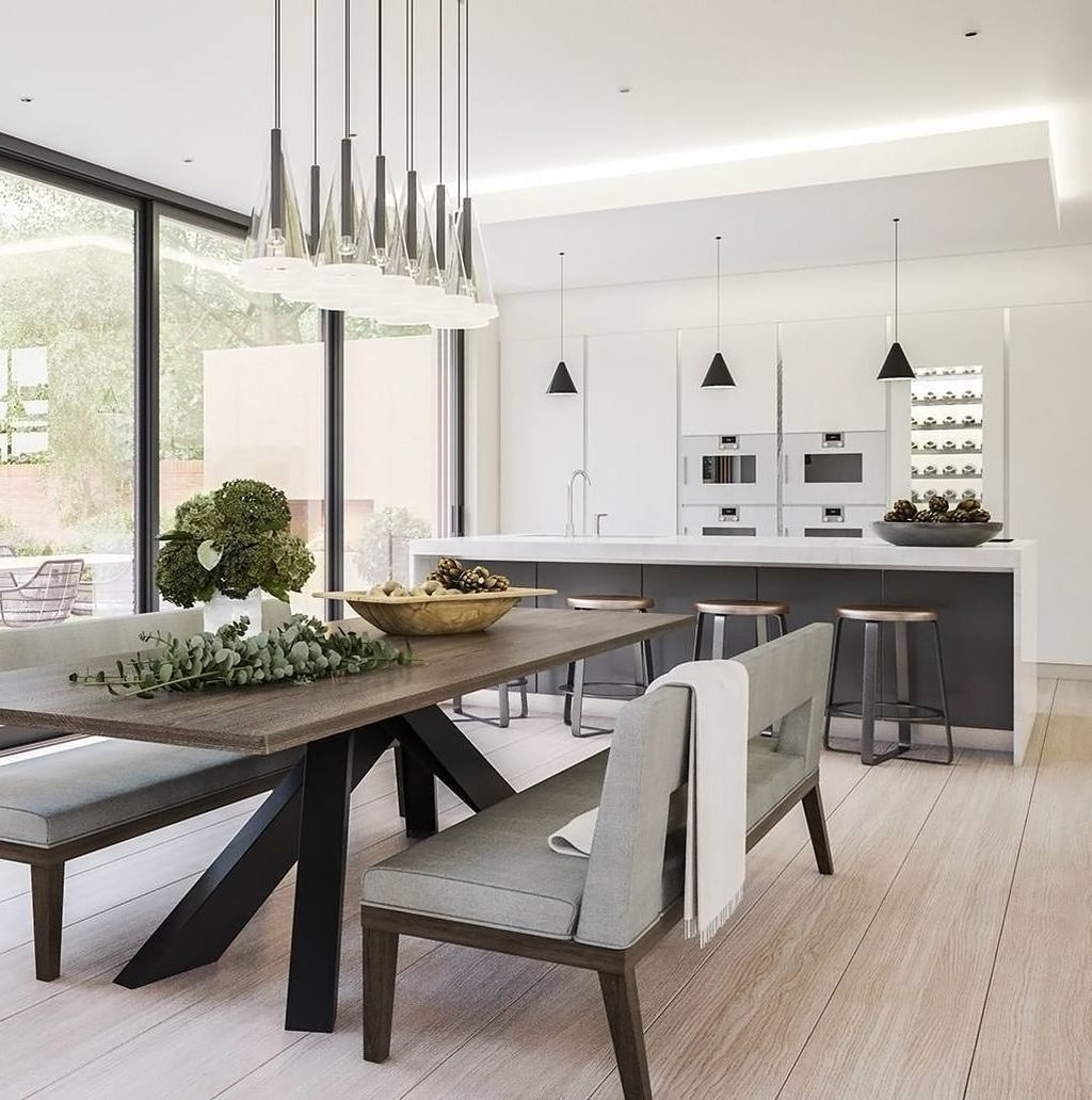 44 Popular Contemporary Dining Room Design Ideas Homyhomee Contemporary Dining Room Design Dining Room Decor Modern Dining Room Contemporary
