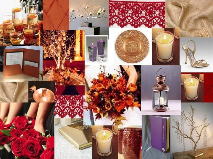 burnt orange, red, copper, gold & plum | Wedding Color Schemes ...