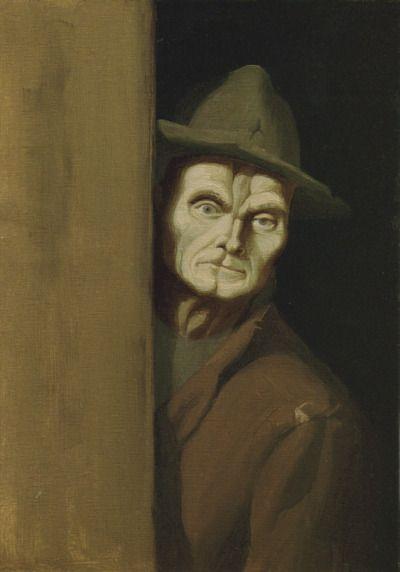 Image result for man on dark corner paintings