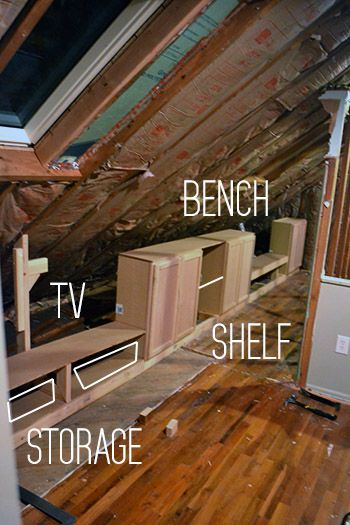 Adding Built In To Knee Wall Attic Conversion Master