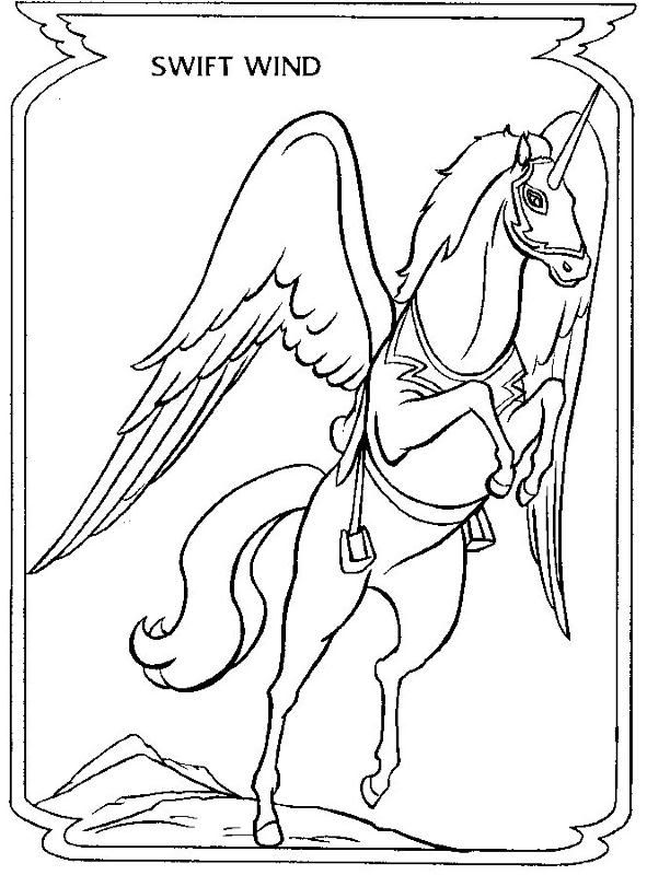Swift Wind Coloring Pages For Girls Book Stuff Adult