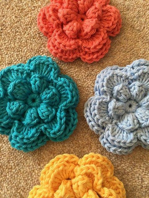Crochet flower pattern   CROCHET   Pinterest   Flores, Flores ...