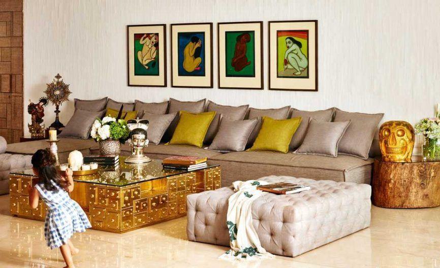 Inside akshay kumar and twinkle khanna   artistically inviting home urbanclap also rh pinterest