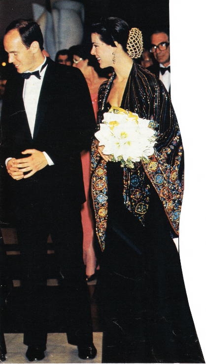 April 1989...Albert and Caroline | Monaco's Royal Family ...