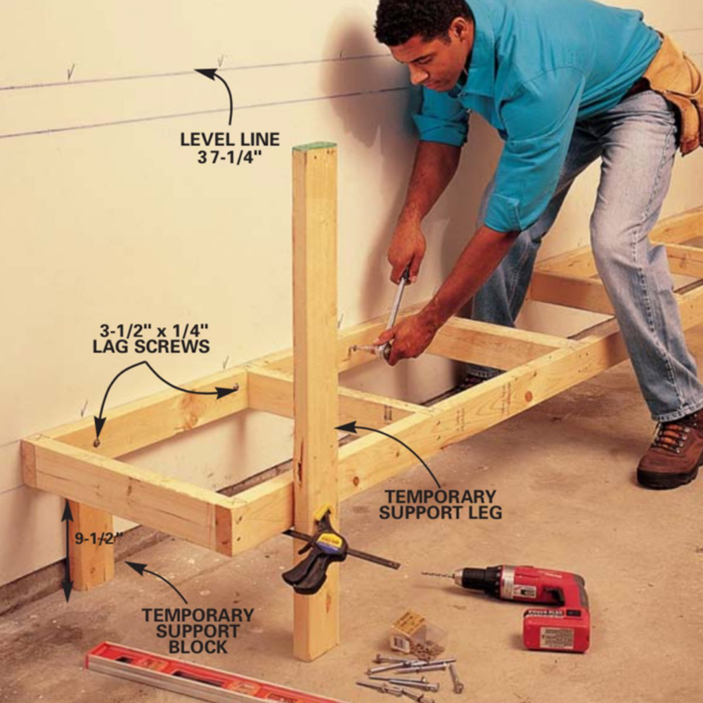 Diy Workbench With Drawers Plans