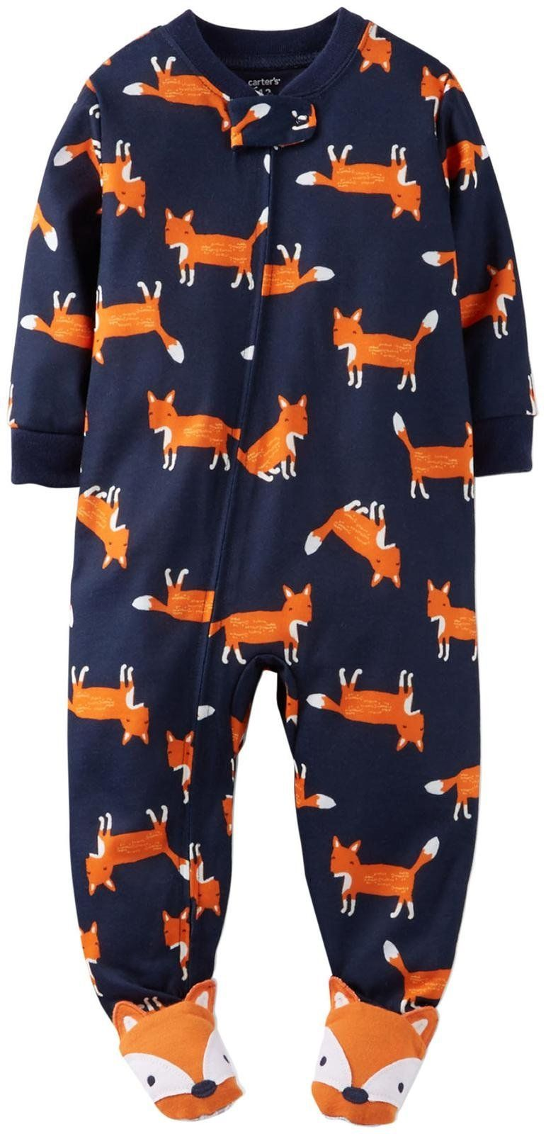 Carter's Little Boys' Jersey Footie (Toddler/Kid) - Foxes - 5T