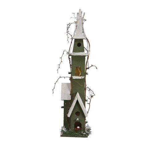 Birdhouses  Fantastic Craft Green Birdhouse with Light, 24-Inch Porch Makeover -- This is an Amazon Associate's Pin. Click the VISIT button to enter the website for more info.