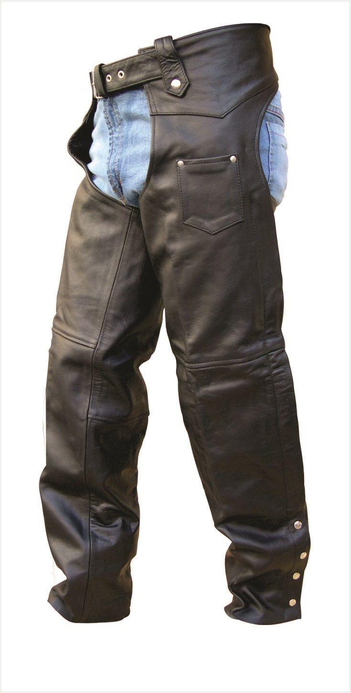 Unisex Buffalo Hide Leather Motorcycle Chaps Motorcycle Chaps Harley Davidson Leather Jackets Leather Jacket Men