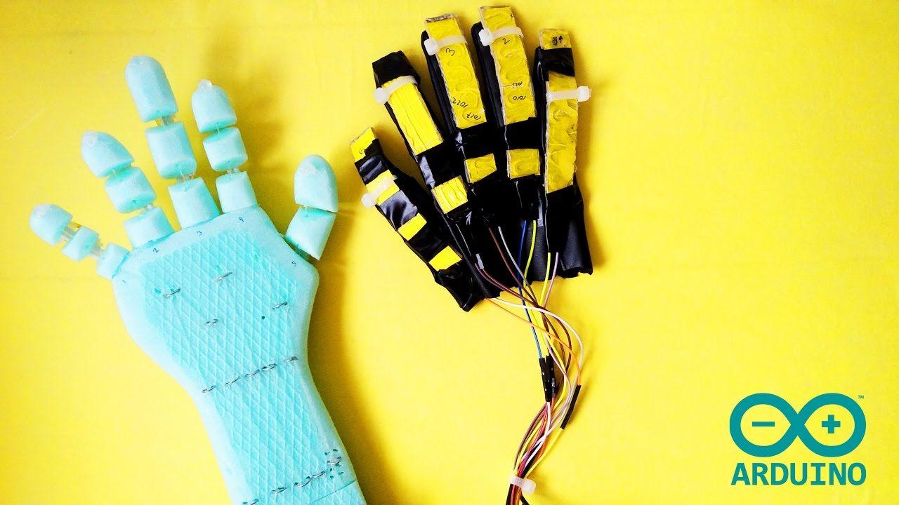 Arduino Proyecto De Mano Robotica Mano Articulada Robot Hand Diy Robot Arduino