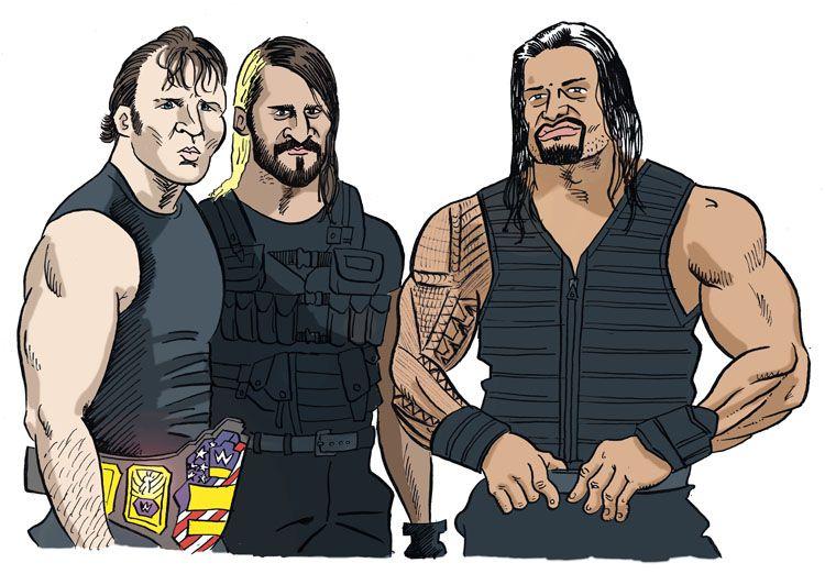Ambrose Rollins Reigns By Jkipper Dean Ambrose Dibujos