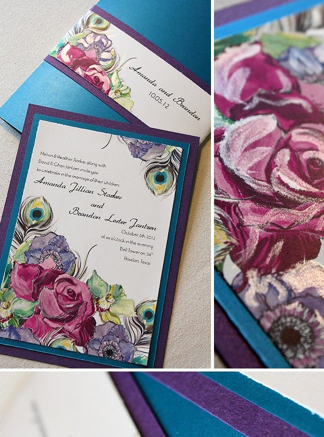 gorgeous wedding invite by Momental Designs gorgeous
