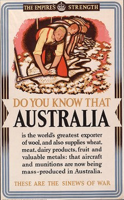 British Wwii Propaganda Poster Offering Information About Colonial Allies This Poster Is For The Contribu Wwii Propaganda Posters Australia Australian Vintage