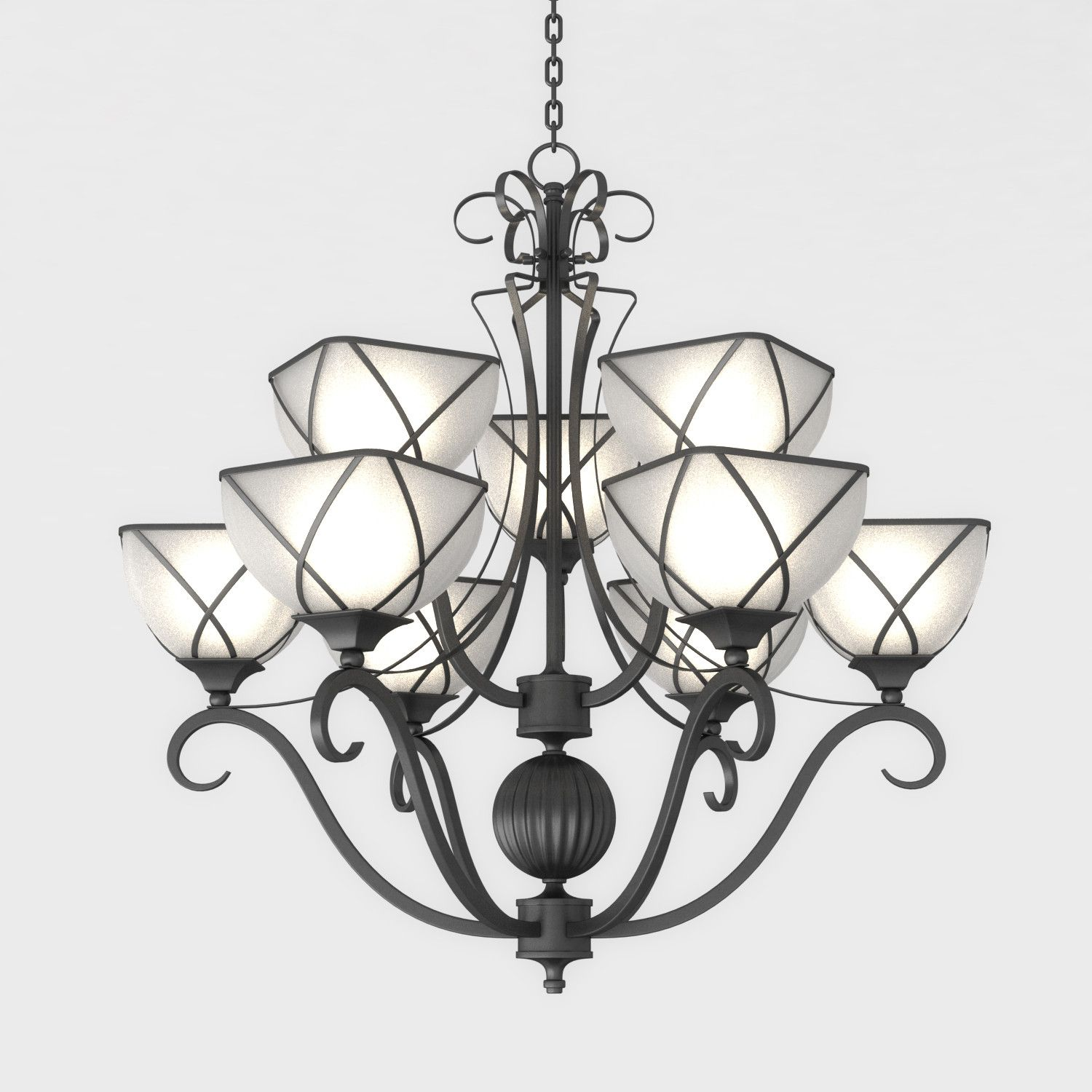 Iron Chandelier 3D Max - 3D Model | 3D-Modeling | Pinterest | Iron ...