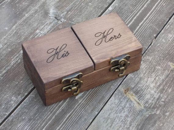 rustic ring bearer box reclaimed wood ring box wood ring box wedding