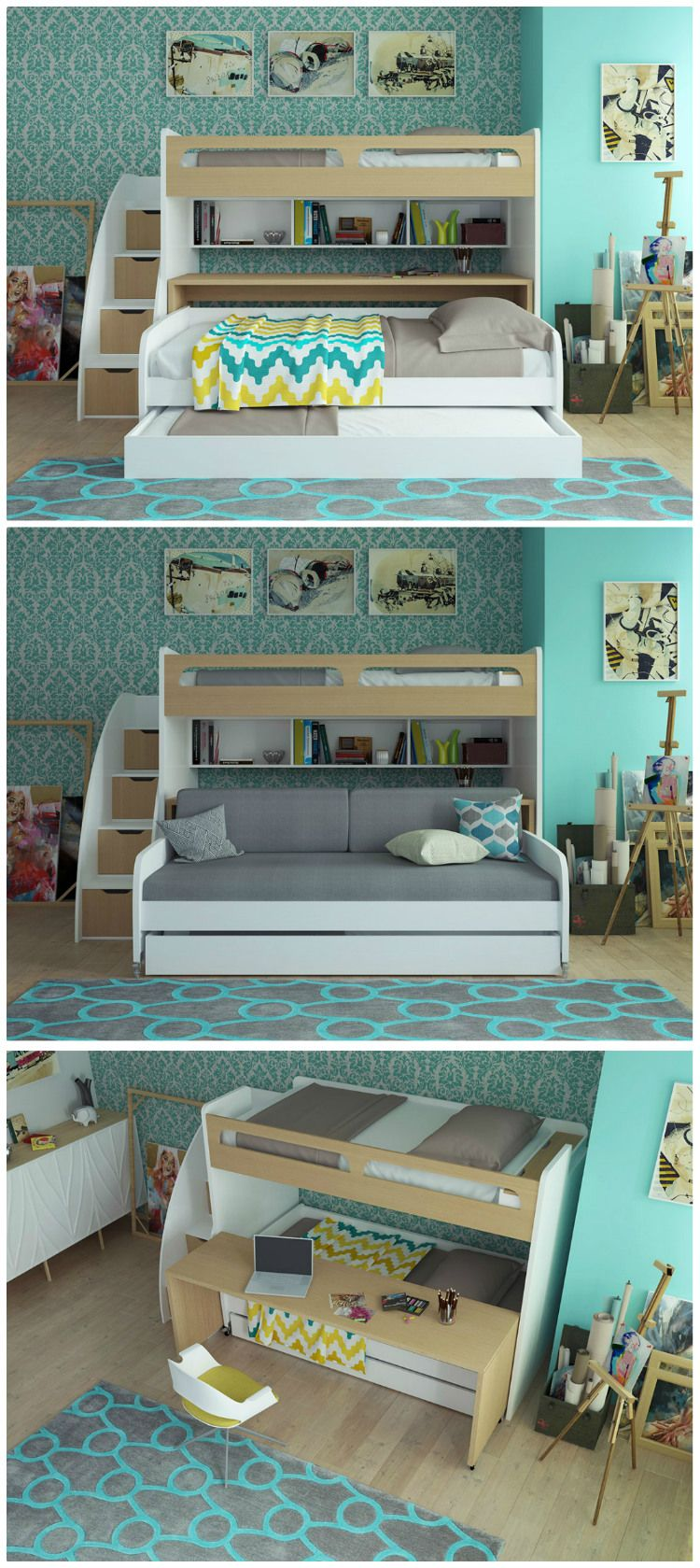 Best Ten Great Bunk And Loft Beds For Kids Kids Bunk Beds 400 x 300