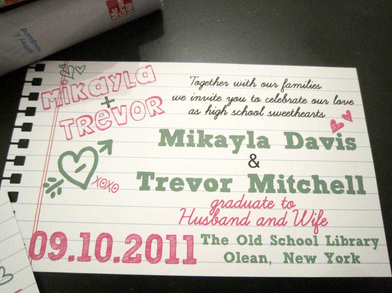 Up Themed Wedding Invitations: School Of Love Wedding Invitations