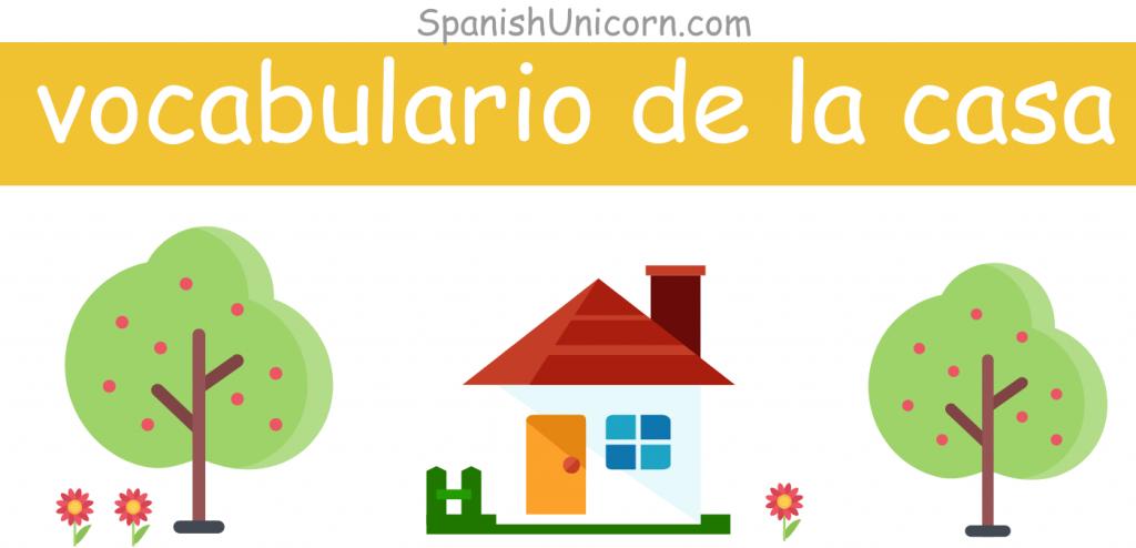 Vocabulario español de la casa con actividades, ejercicios