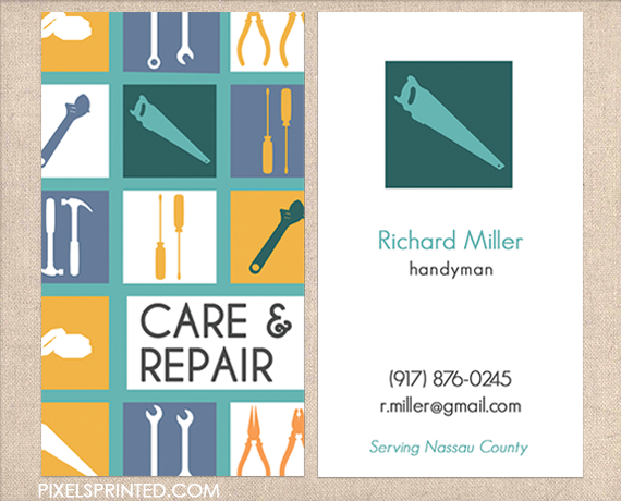 handyman business cards contractor business cards electrician