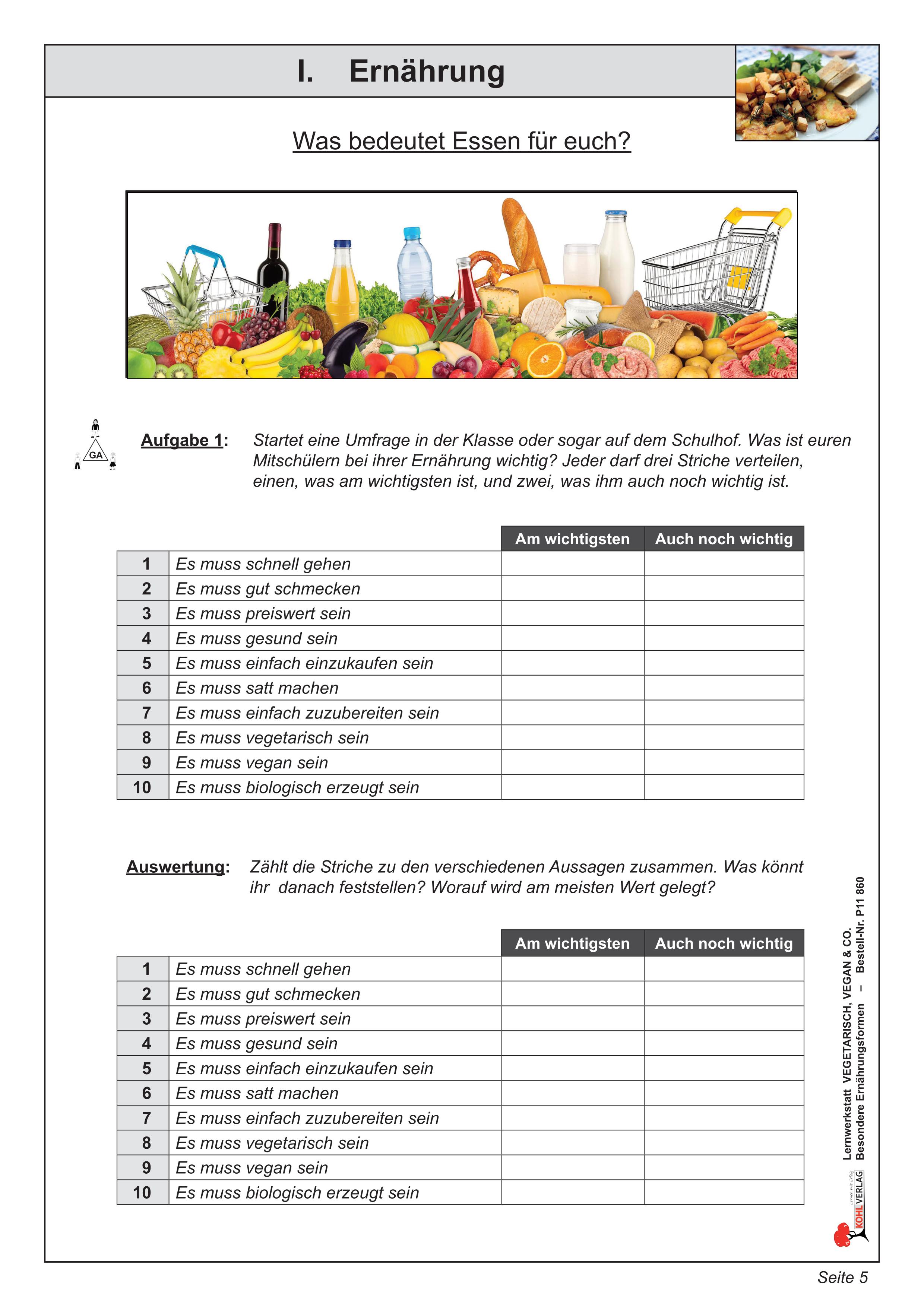 Ernährung – Unterrichtsmaterial im Fach Biologie   Ernährung ...