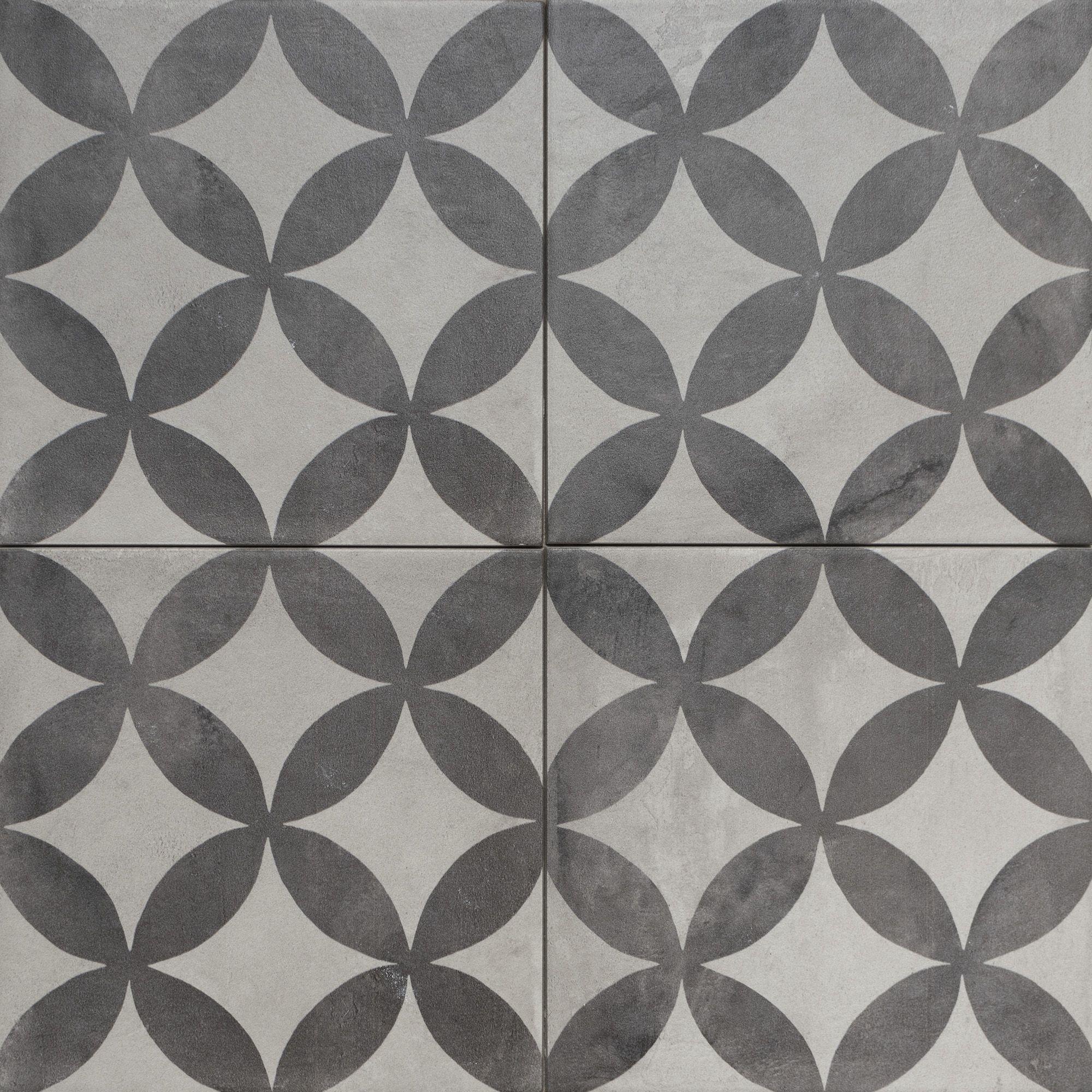 Traditional Pattern Encaustic Look Porcelain Floor Tiles From Solus