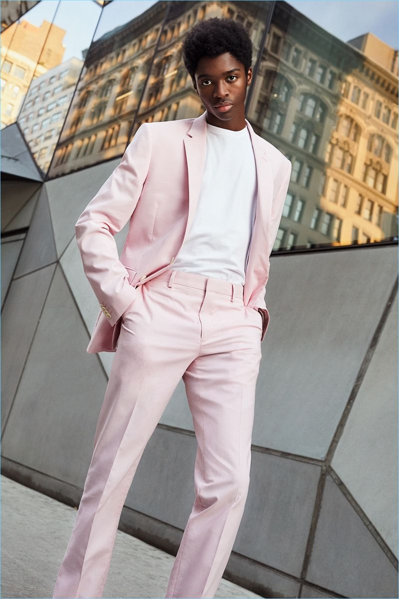 Pin by ag on clothesstyle pink suit men fashion suits