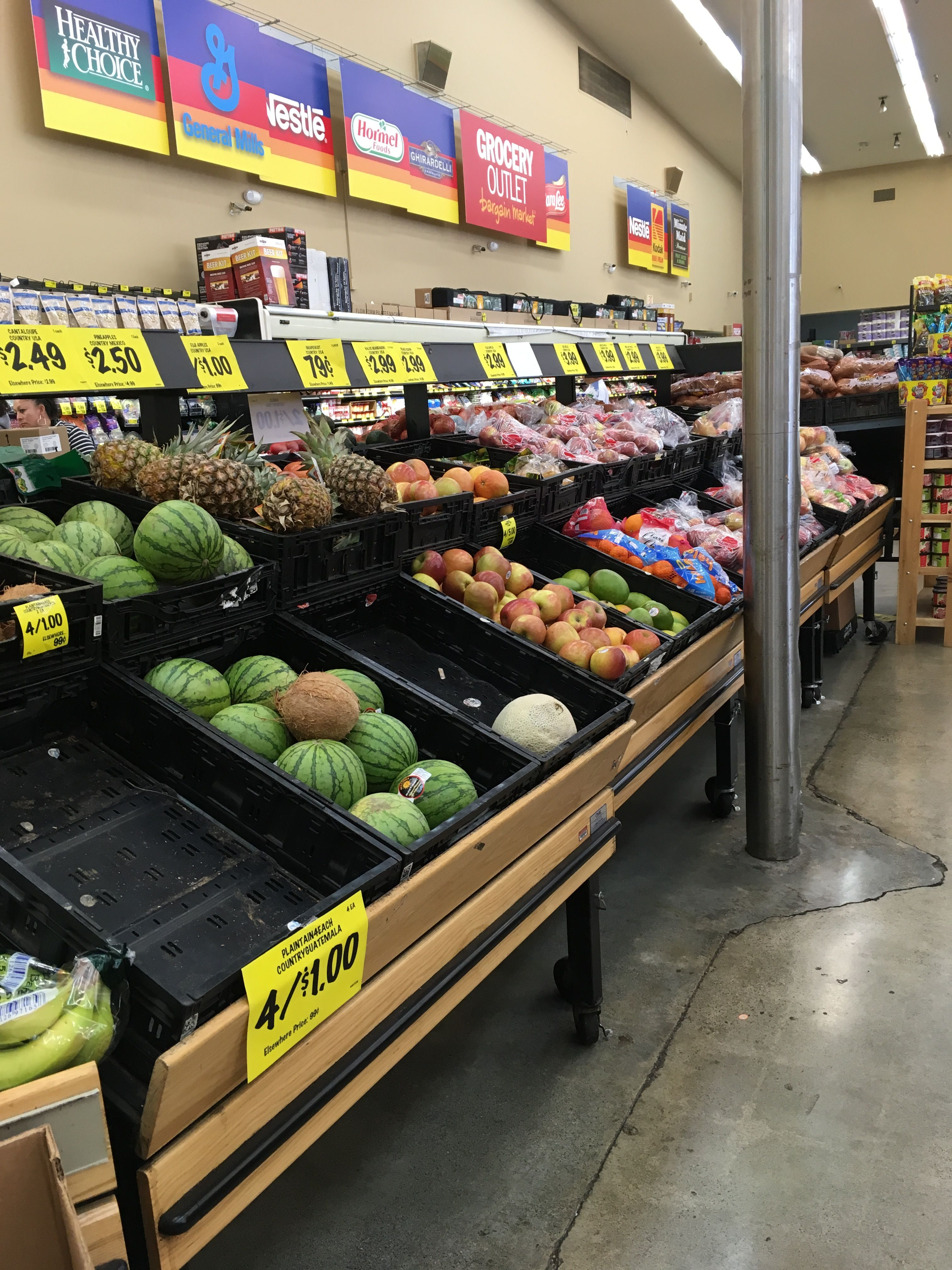 Grocery outlet euro tables could go under glazing on