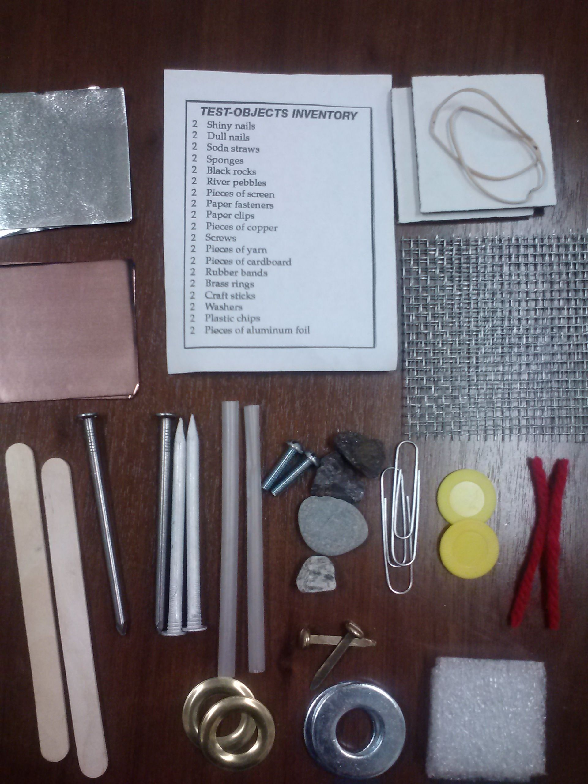 Foss Magnetism Test Objects Kit