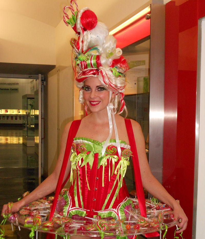 Nutcracker Land of Sweets canape and candy hostess to hire