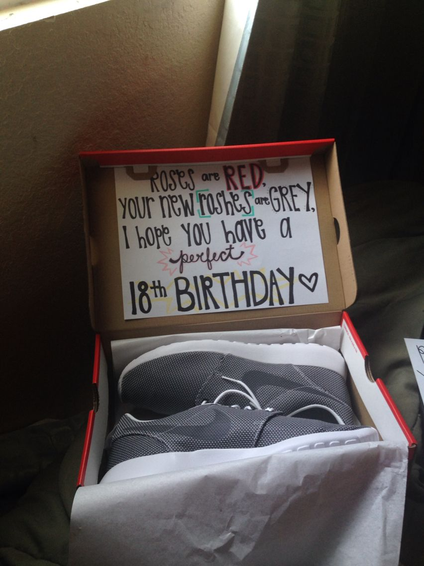 Cute nike th birthday present for your boyfriend or any special