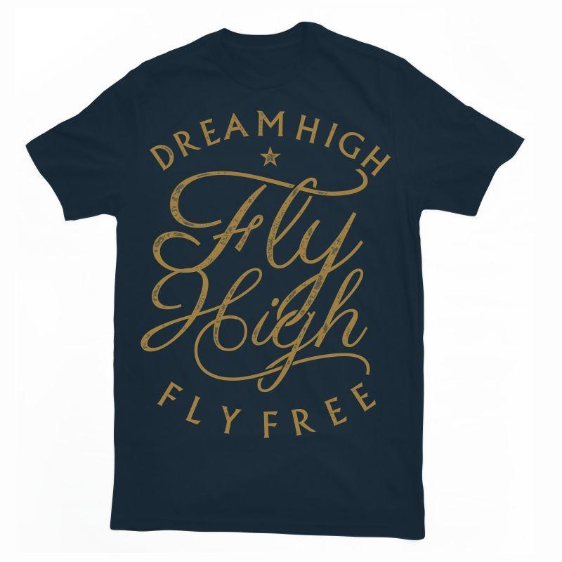 Download Fly High T Shirt Design Template T Shirt Mens Tshirts