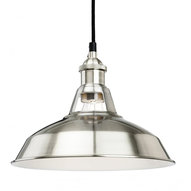 Firstlight 4867bs Albany Single Light Ceiling Pendant In Brushed