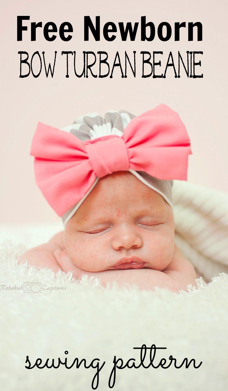 Baby Bow Turban Beanie Pattern Sewing Baby Turban