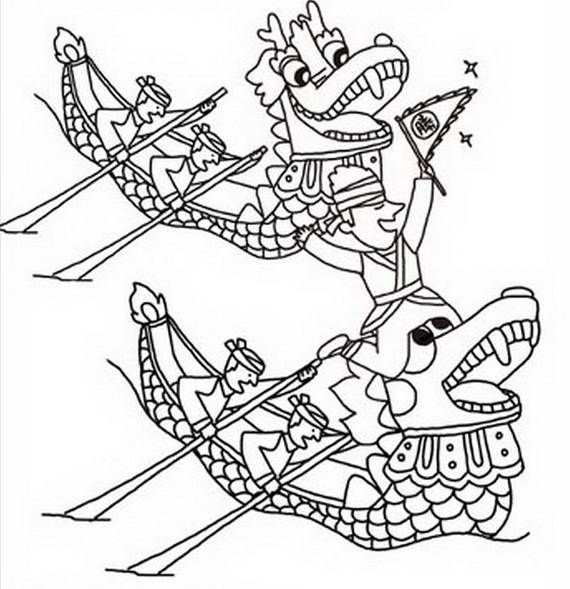 View These Chinese Dragon Boat Festival Coloring Pages And Craft Ideas