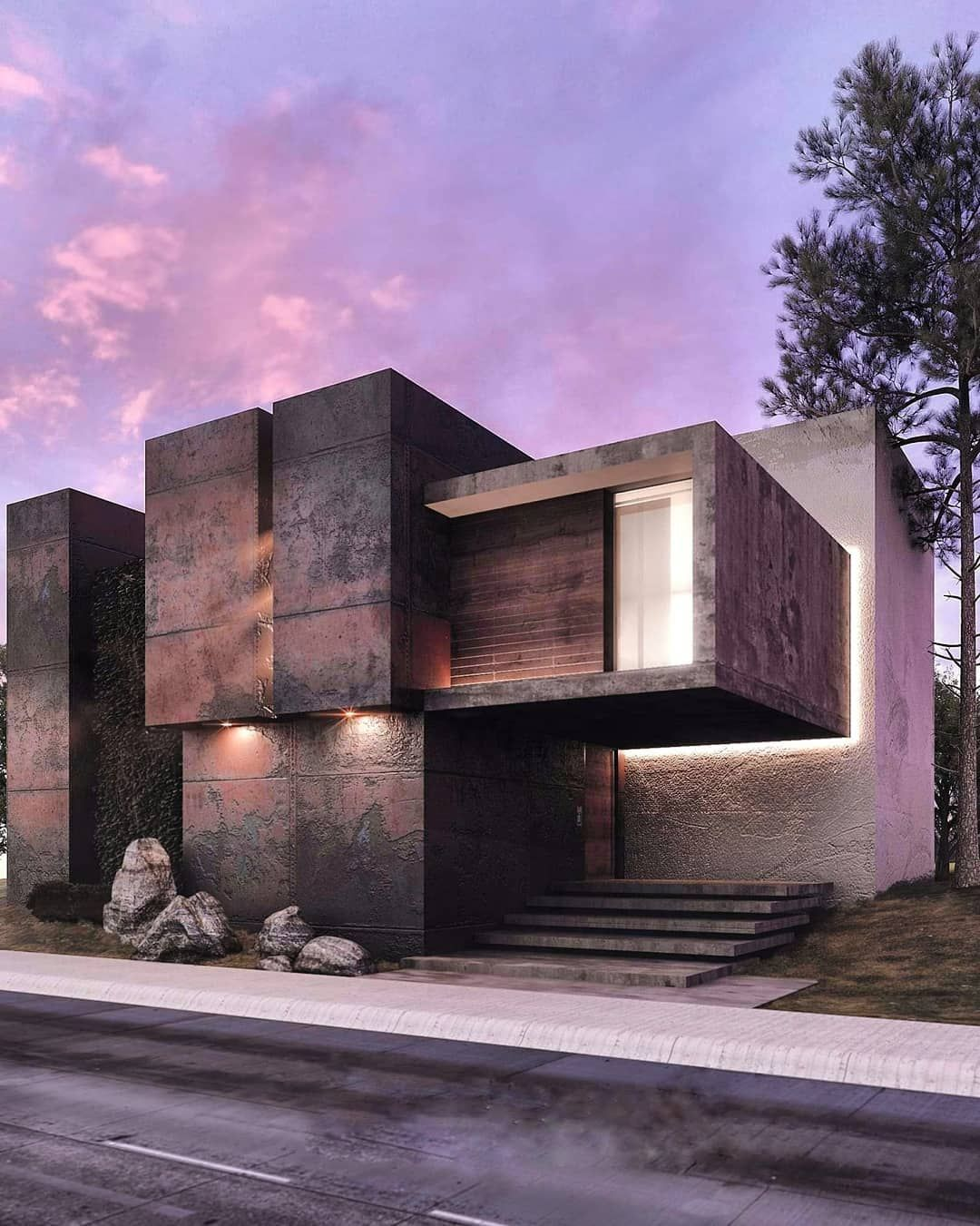 Amazing architecture on instagram modern house visualized by zamo sea serpent zamoseaserpent mexico 3dsmax архитектура www amazin