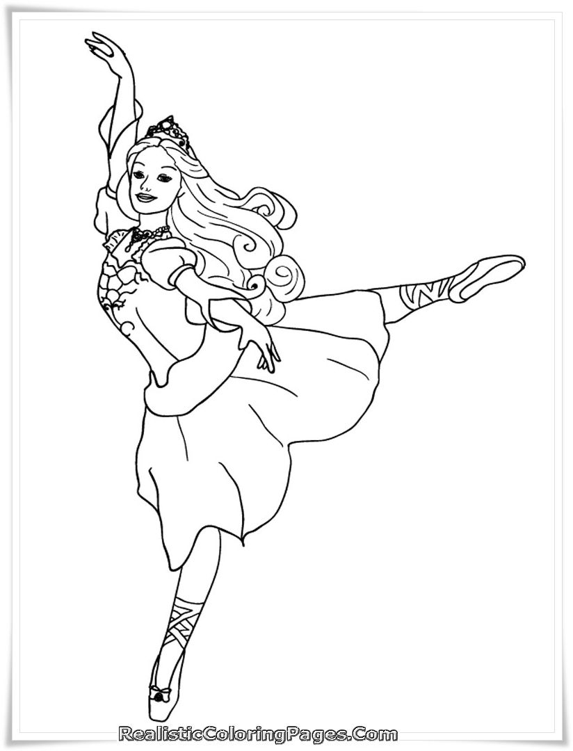 Coloring pages of princess barbie - Barbie And The 12 Dancing Princesses Coloring Page 01