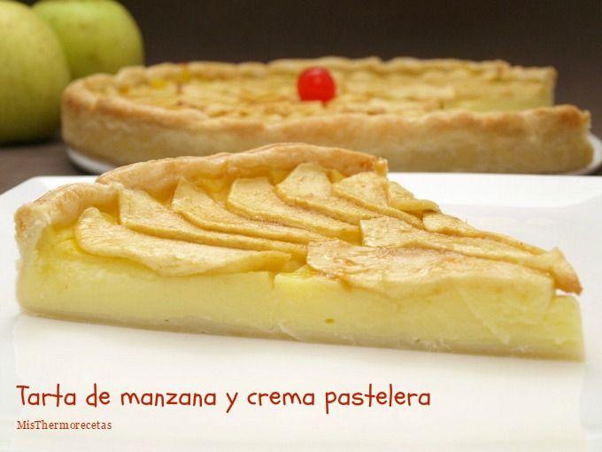 Tarta De Manzana Y Crema Pastelera Recetas Thermomix Misthermorecetas Tartas Tarta De Manzana Tarta De Peras