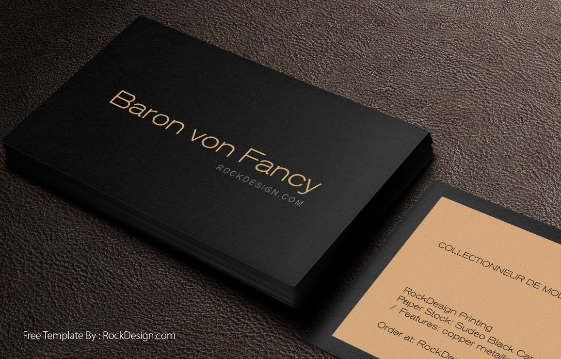 Pretty Business Card Template Black Photos Free Online Elegant