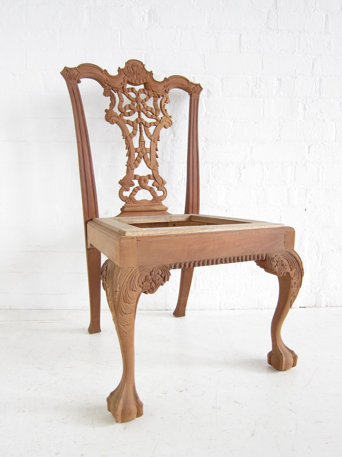 Chippendale dining chair with ball and claw feet