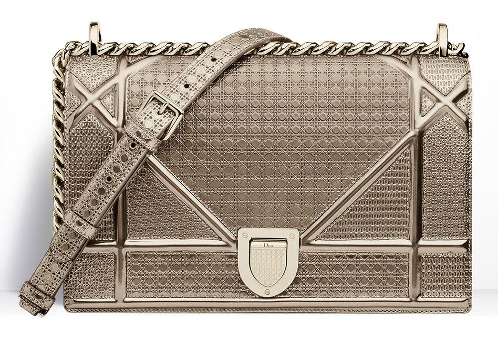 4323f3536d03 Christian-Dior-Diorama-Gold-Metallic-Mini-Cannage-Bag