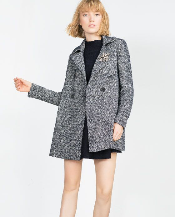 Chaqueta lana mujer zara
