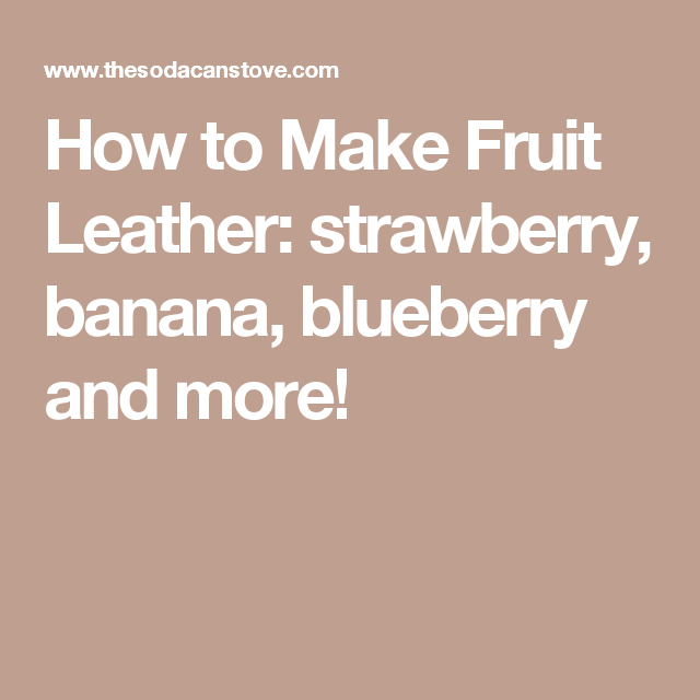 How to Make Fruit Leather: strawberry, banana, blueberry and more!