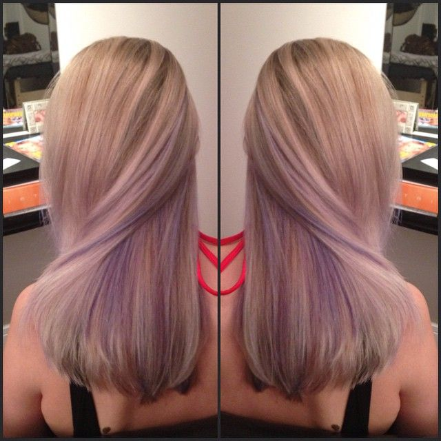 Lavender Peek A Boo Highlights Google Search Hair Pinterest