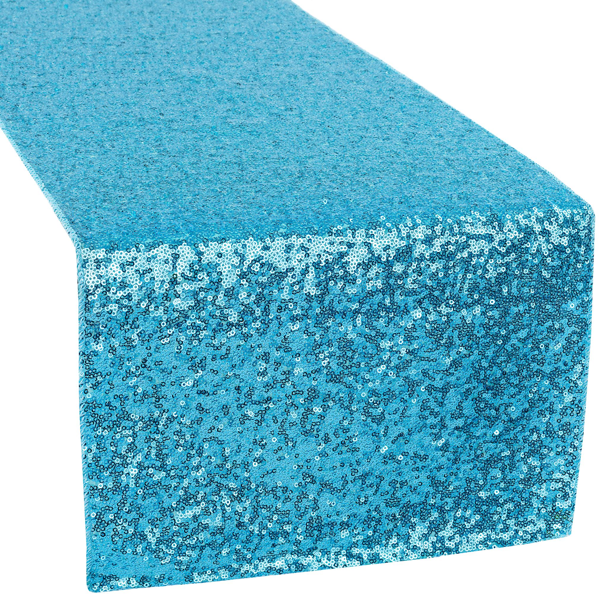 Glitz Sequin Table Runner Aqua Blue In 2020 Event Decor Direct