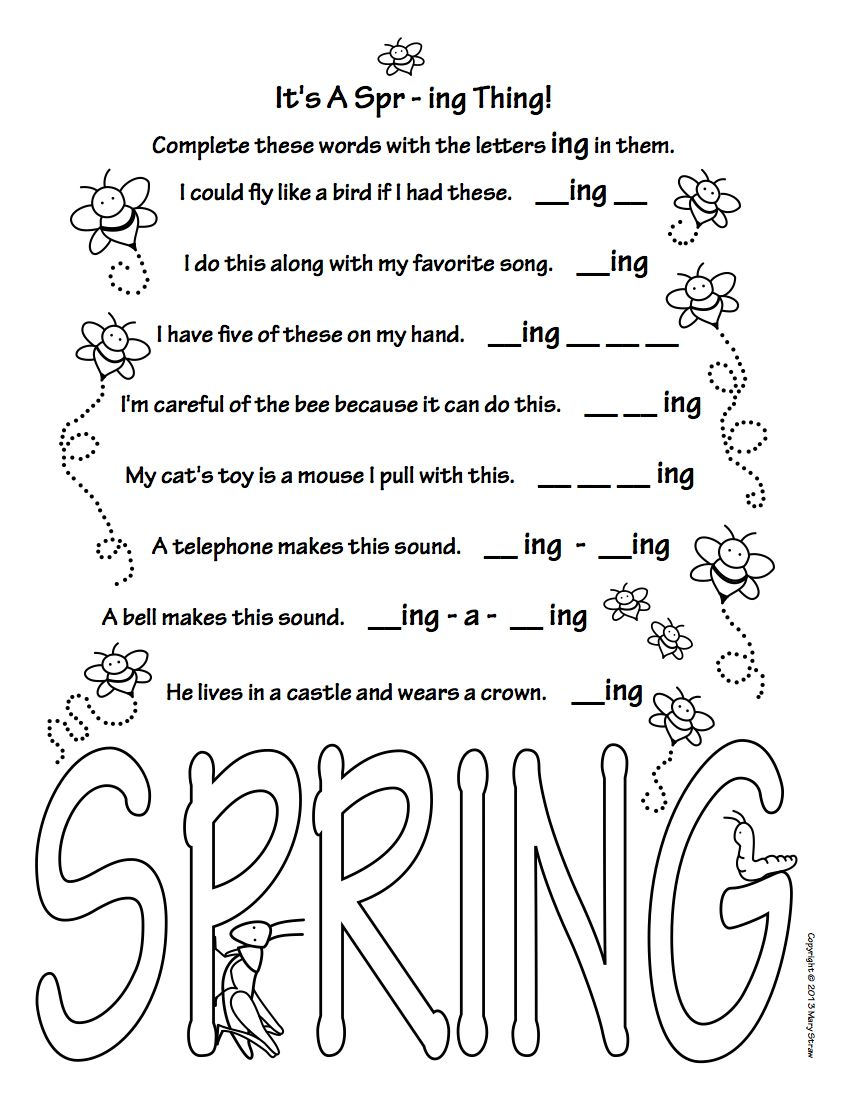Spring Activity Coloring Pages Spring Activities Coloring Pages