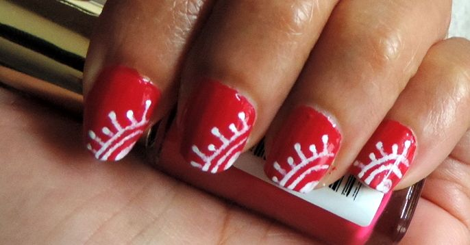 Easy Henna Nail Art Simple Short Nail Art Designs By Harshas